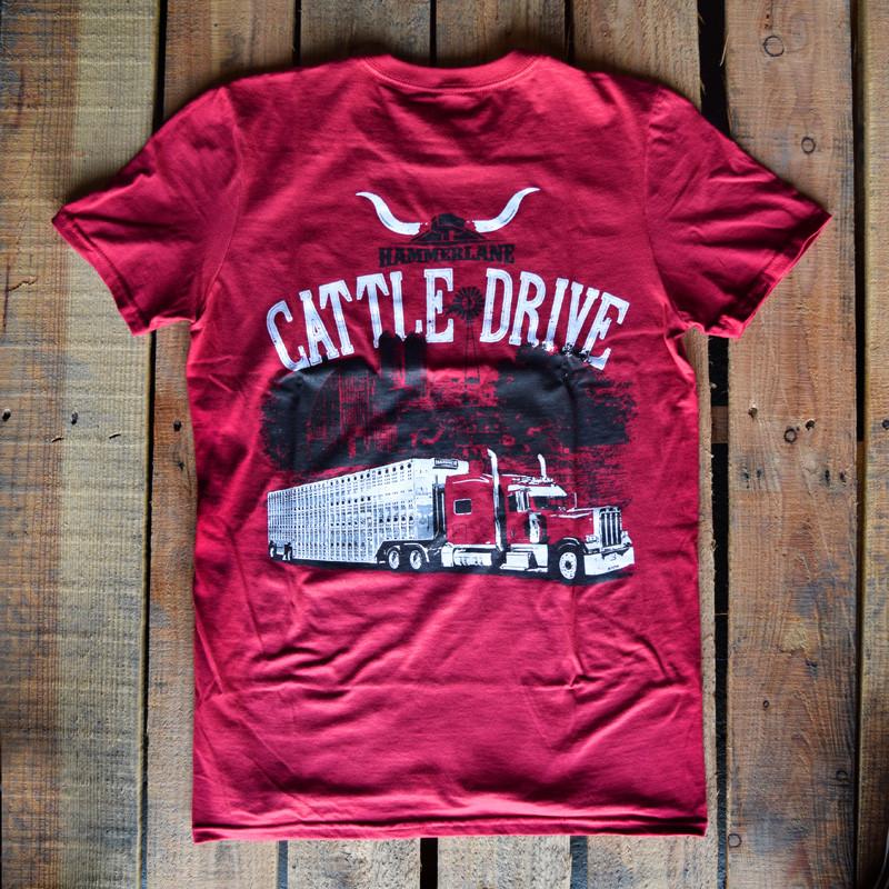 Cattle Drive Hammer Lane Trucker T-Shirt On Pallet