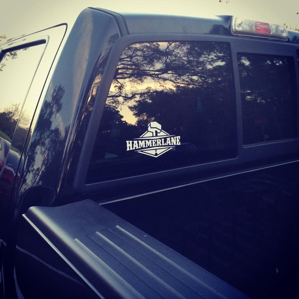 Hammer Lane Logo Decal On Truck