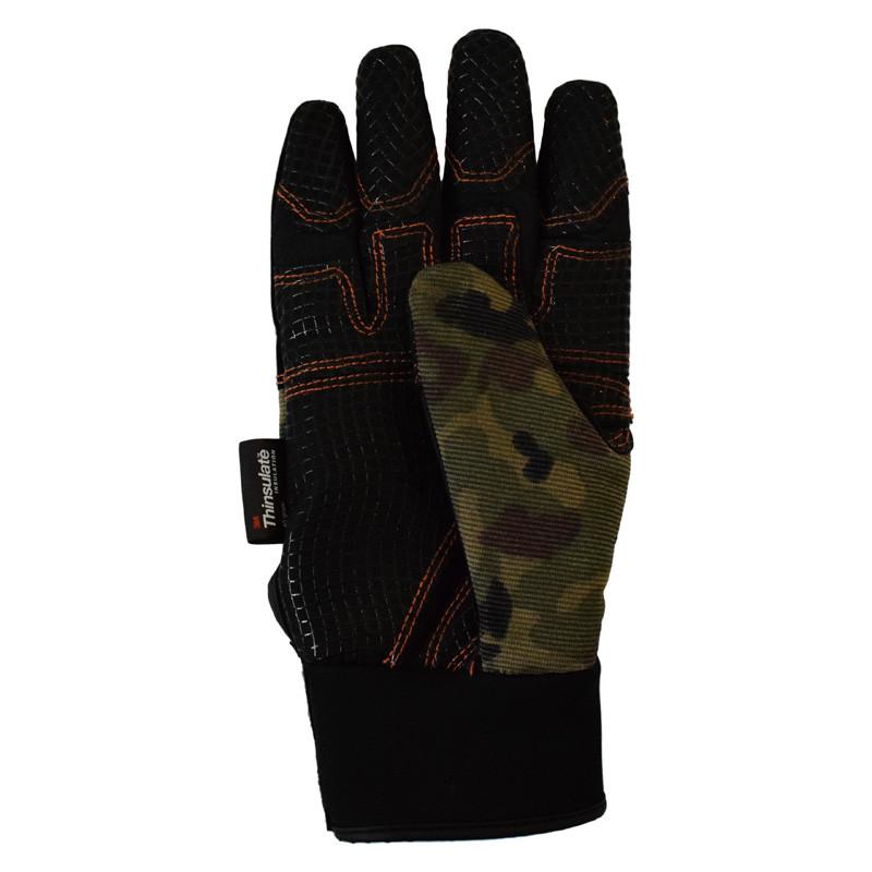 Hammer Lane Multipurpose Mens Trucker Gloves Camo Back