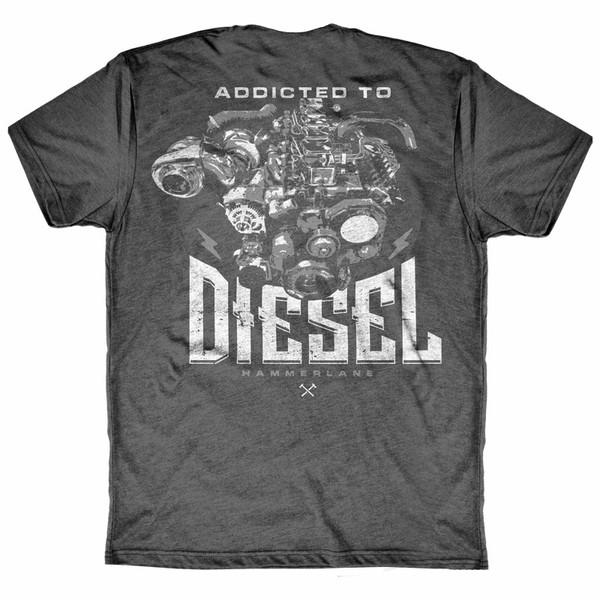 Diesel Addicted Hammer Lane Trucker Shirt Back