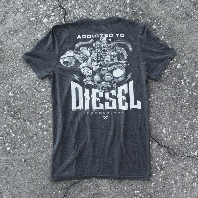 Diesel Addicted Hammer Lane Trucker Shirt On Pavement