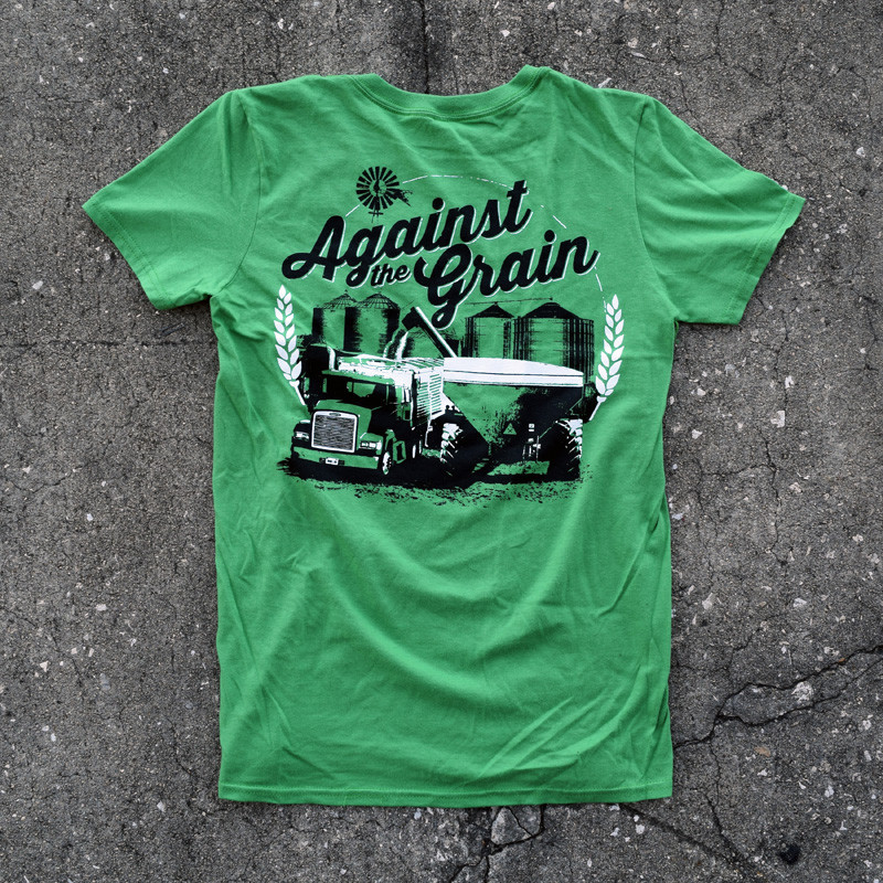 Against The Grain Hammer Lane Trucker T-Shirt On Pavement