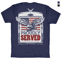 Veterans Hammer Lane T-Shirt Blue