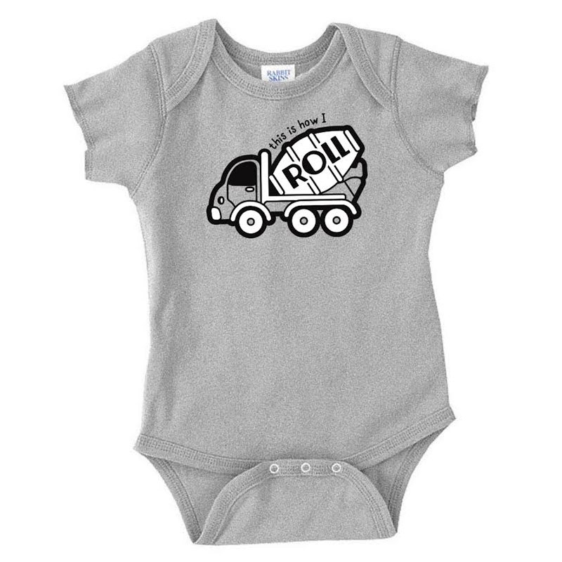 How I Roll Hammer Lane Infant One Piece Heather Grey