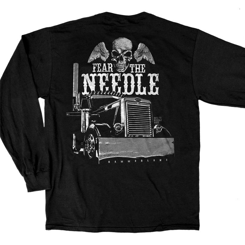 Fear The Needle Hammer Lane Long Sleeve T-Shirt Close Up