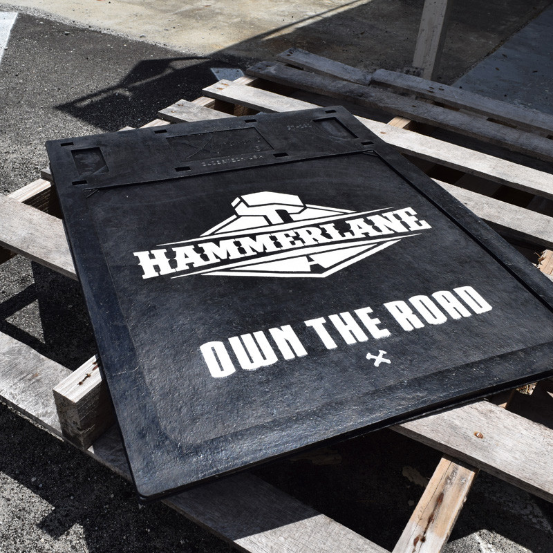 Hammer Lane Logo Mudflap On Pallet