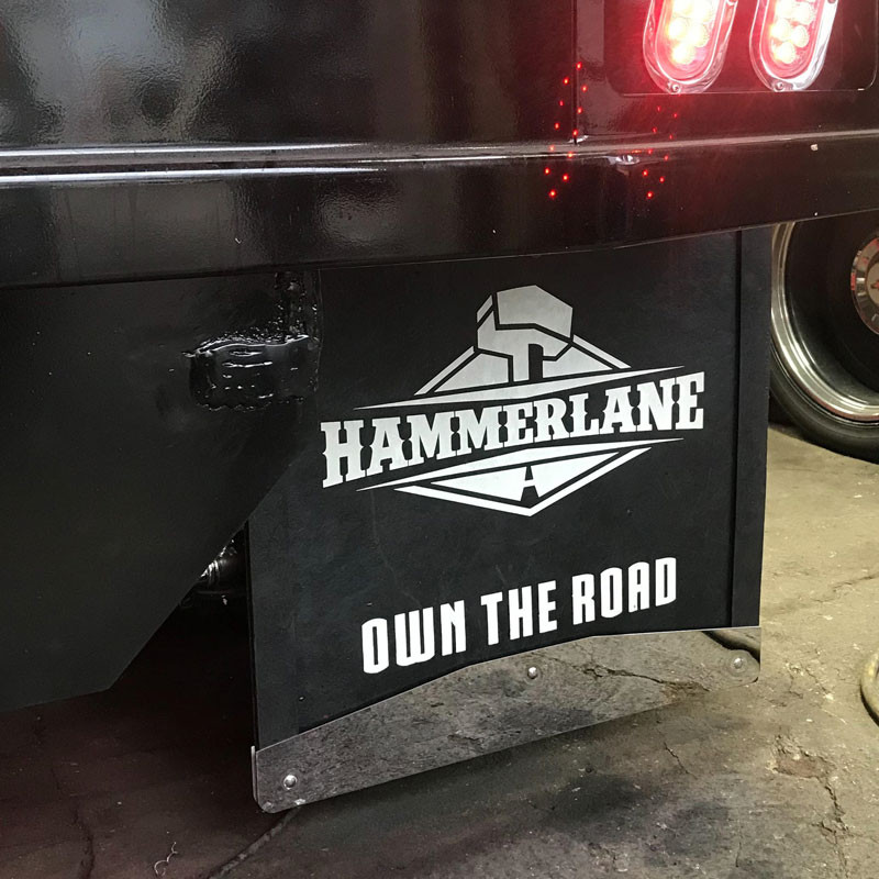 Hammer Lane Logo Mudflap On Truck Front