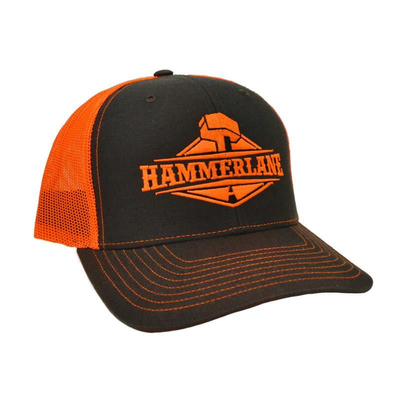 Snapback Neon Orange Hammerlane Trucker Hat Angle