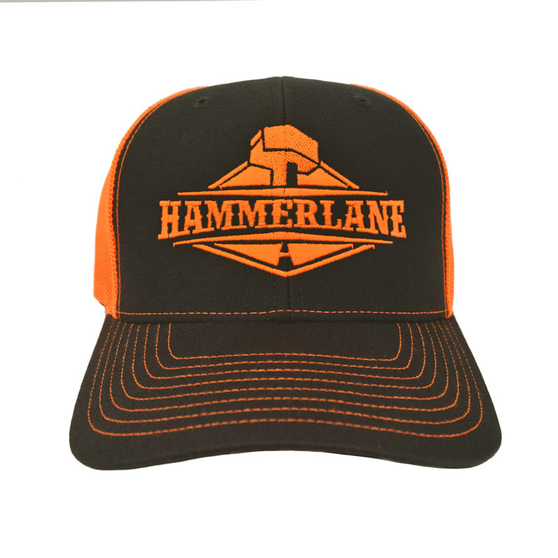 Snapback Neon Orange Hammerlane Trucker Hat Front