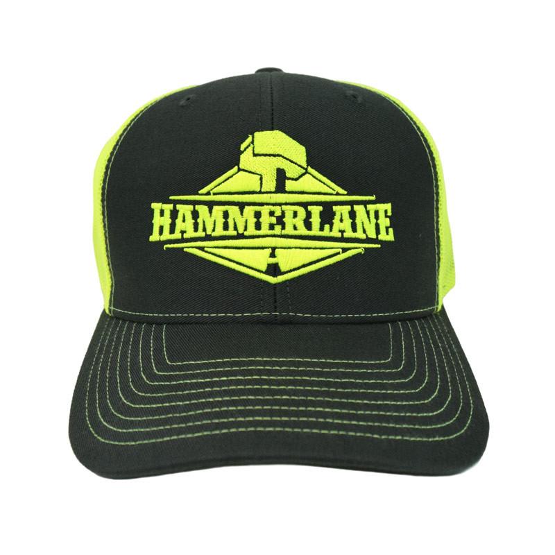 Snapback Neon Green Hammerlane Trucker Hat Front