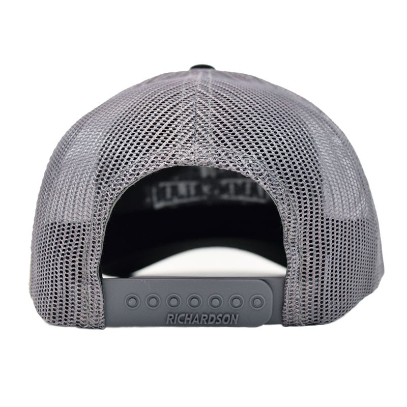 Hammerlane Silver Charcoal Snap Back Trucker Hat Back