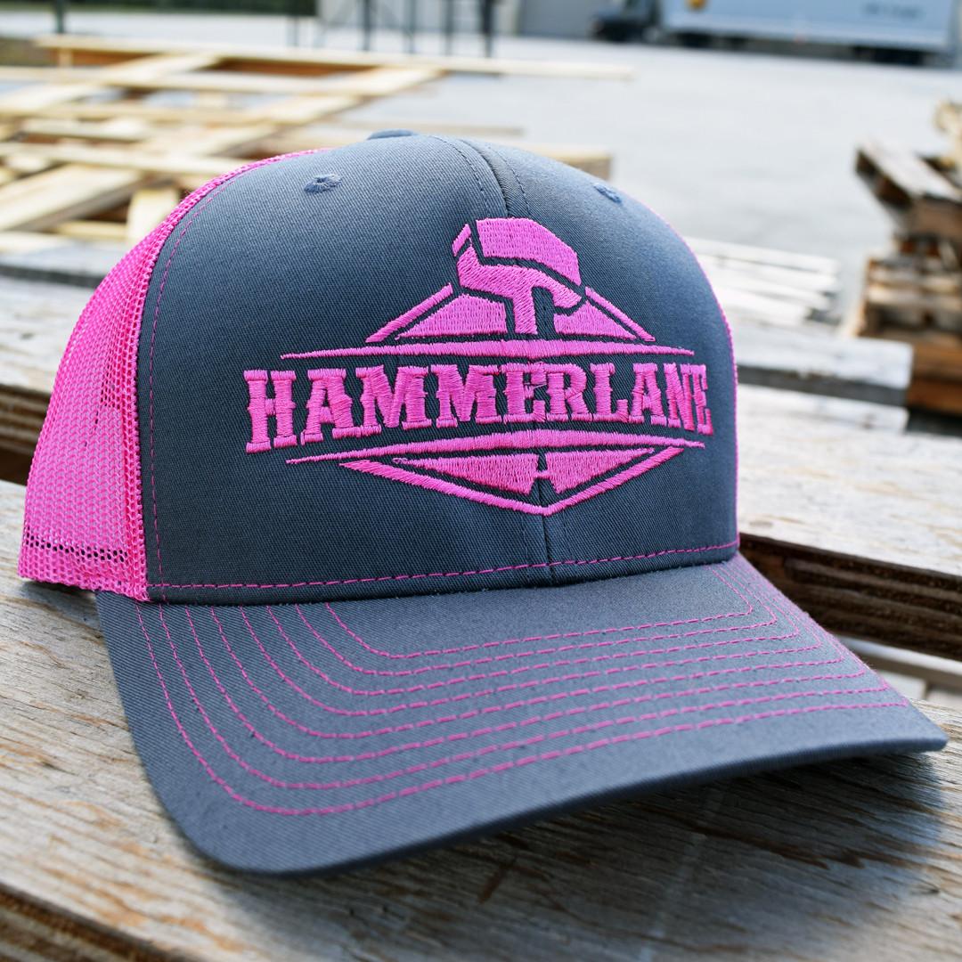 Snapback Neon Pink Hammerlane Trucker Hat - Hammer Lane 7aff034dd46