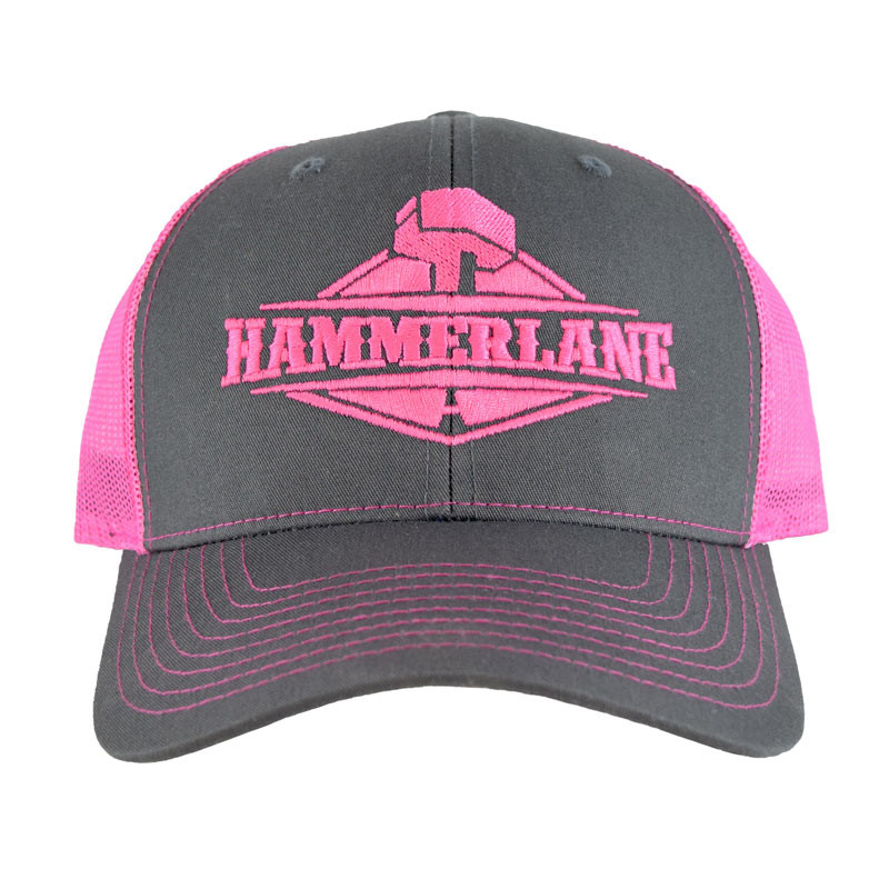 Snapback Neon Pink Hammerlane Trucker Hat Front