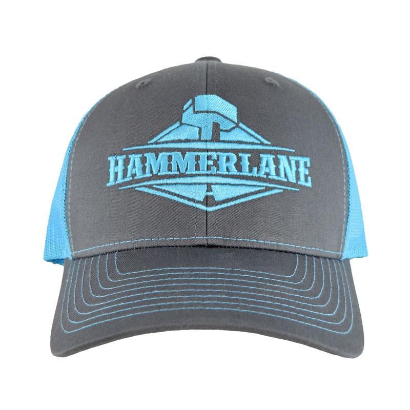 Snapback Neon Blue Hammerlane Trucker Hat Front