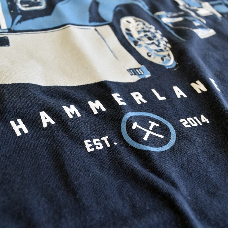 Out Of The Blue Hammer Lane Trucker T-Shirt Close Up