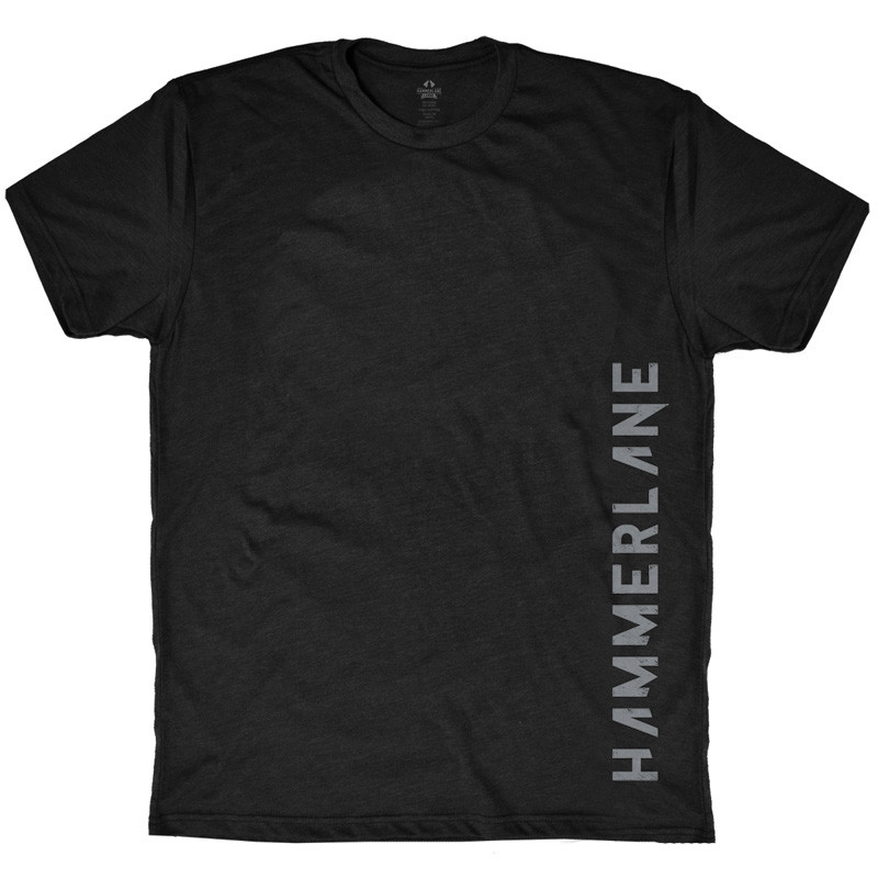 Hammer Lane Vertical Grey Logo T-Shirt