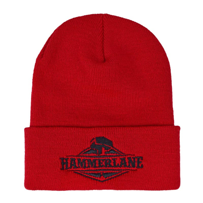 Original Hammer Lane Logo Beanie Red