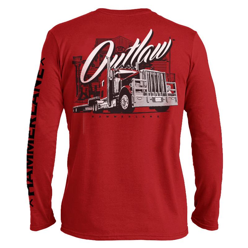 Outlaw Hammer Lane Long Sleeve T-Shirt - Hammer Lane 725053aeb9a