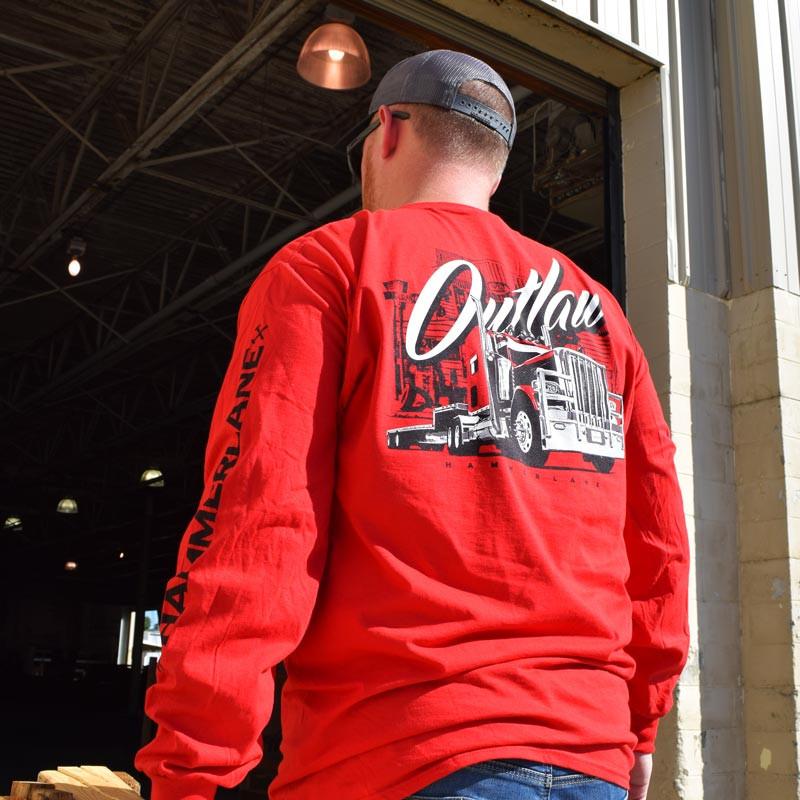 Outlaw Hammer Lane Long Sleeve T-Shirt On Model