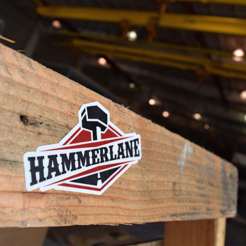 Hammer Lane Sticker On Pallet