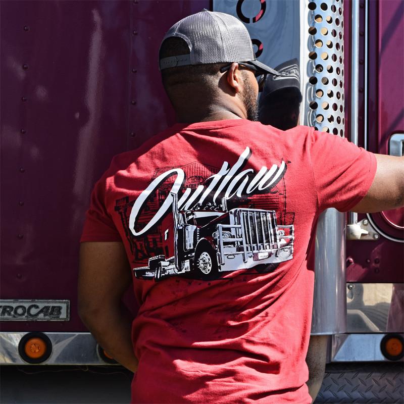 Outlaw Hammer Lane Short Sleeve T-Shirt On Model