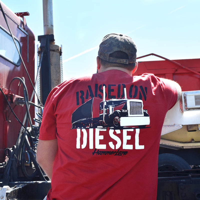 Raised On Diesel Hammer Lane T-Shirt On Model
