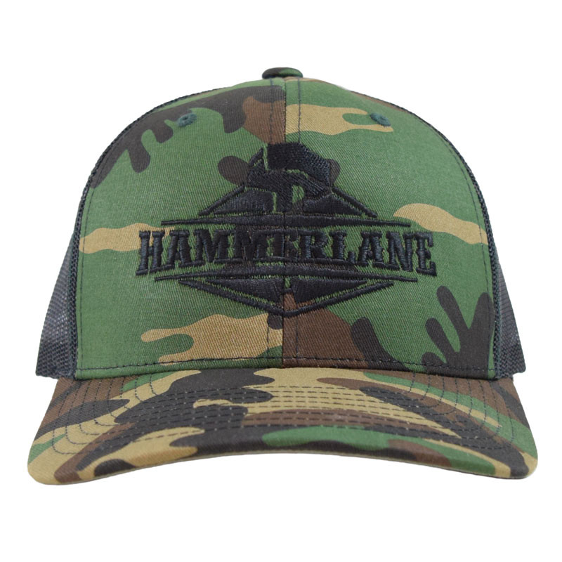 Snapback Camo Hammerlane Trucker Hat Front