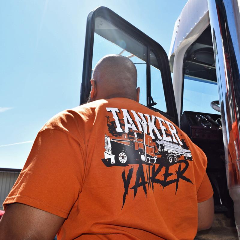 Tanker Yanker Hammer Lane Shirt On Model Close