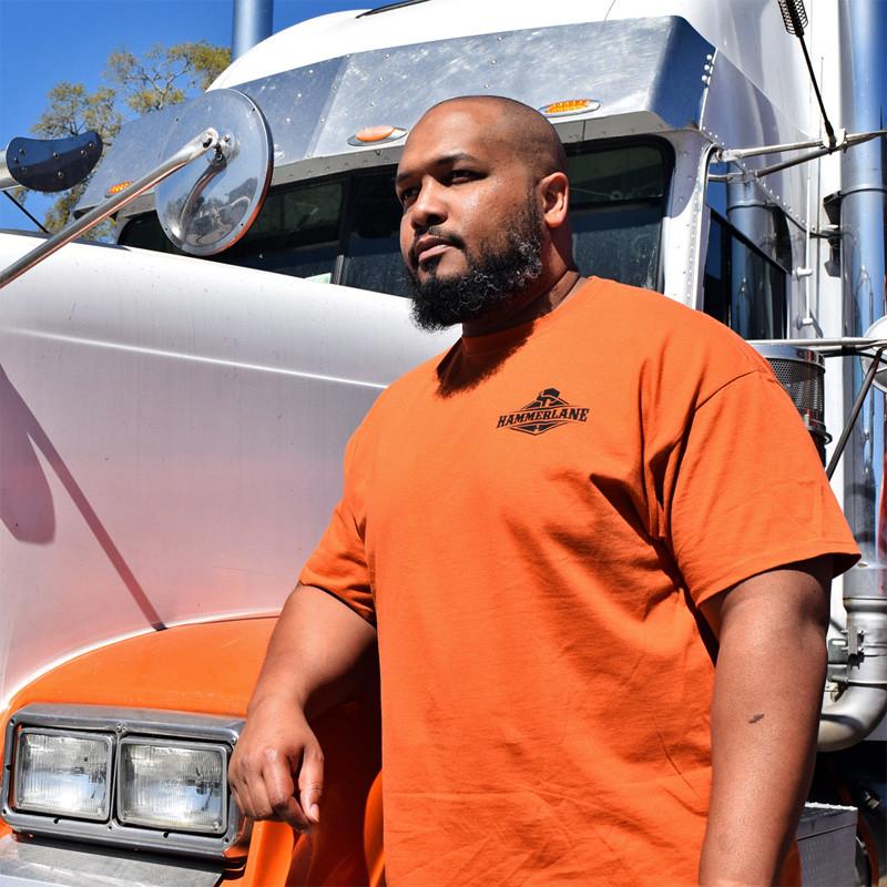 Tanker Yanker Hammer Lane Shirt On Model Front
