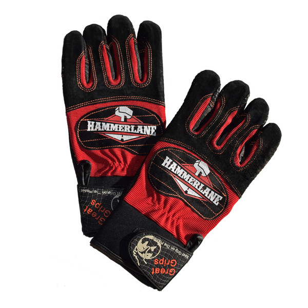 Hammer Lane Multipurpose Mens Trucker Gloves Fire Red
