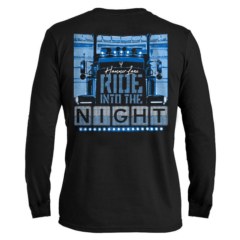 Ride Into The Night Hammer Lane Long Sleeve T-Shirt - Hammer Lane 9cdb87d980e