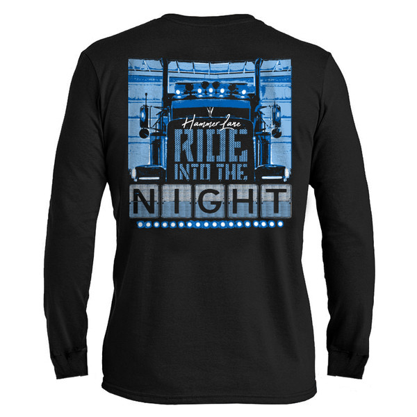 Ride Into The Night Hammer Lane Long Sleeve T-Shirt Back