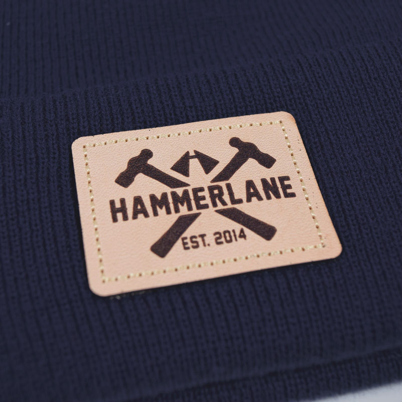 Hammer Lane Logo Patch Beanie Patch Close Up