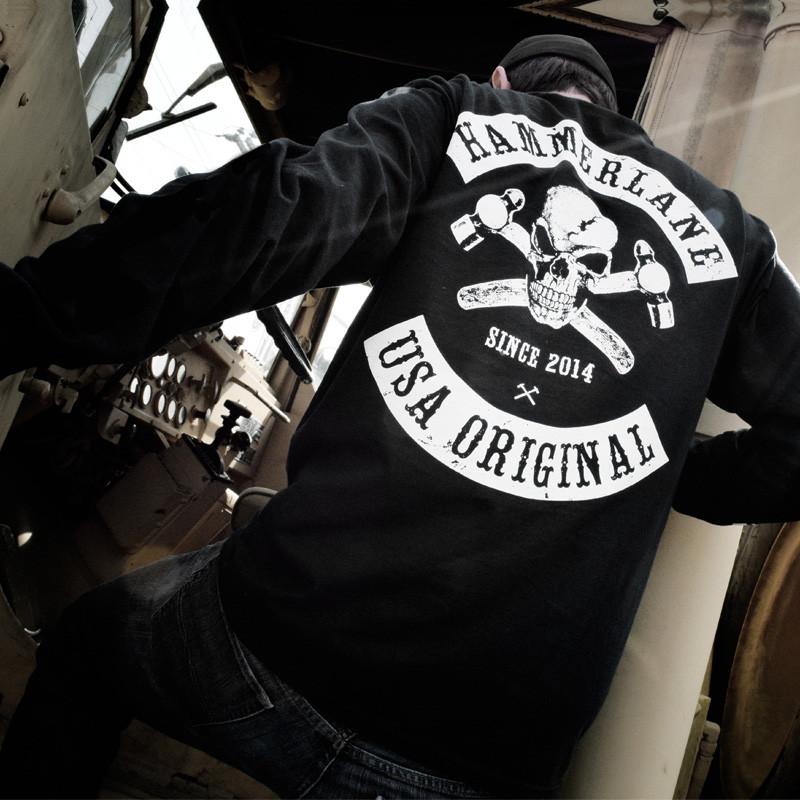 Skull Hammer Lane Long Sleeve T-Shirt Model