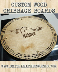 Cribbage Board Wooden (customization with your art and text)