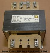 Square D Class 9070 Ser. A Type K500D1 0.5KVA 480/120V