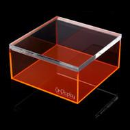 OnDisplay Electric Neon Luxe Clear Acrylic Storage Treasure Box - Medium