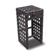 Set of 4 Avon Woven Wicker Outdoor Chair/Bar Stool