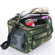 Fridge2Go 12L Portable Soft Sided Cooler Bag w/12V AC & DC Chargers - Camouflage