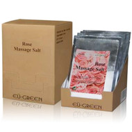 Royal Massage Natural Sea Salt Mineral Massage Scrubbing Salts (80g packets x 10) - Rose