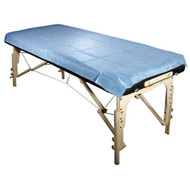 Royal Massage Set of 10 Universal Disposable Waterproof Flat Table Sheets - Blue