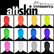 AltSkin Unisex 2Face Solid Spandex Mask - 2 Sizes, 15+ Colors/Patterns