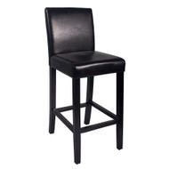 Kendall Contemporary Wood/Faux Leather Barstool