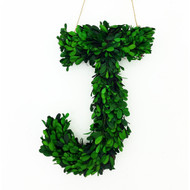 """Modern Home 12"""" Real Preserved Boxwood Monogram Wreath Letters, Numbers and Symbols"""