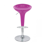 Alpha Contemporary Bombo Style Adjustable Barstool