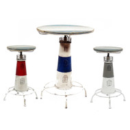 Nautical Cape Cod Lighthouse Bar Table and Stool Collection