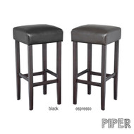 Piper Contemporary Wood/Faux Leather Barstool