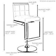 Alex Contemporary Adjustable Barstool