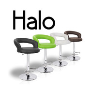 """Halo """"Leather"""" Contemporary Adjustable Barstool"""