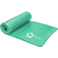 """Aum Extra Thick 1/2"""" Exercise Yoga Mat w/Carry Strap - Non-slip, Moisture-Resistant Foam Cushion for Pilates - Support for Stretching & Physical Therapy - 72"""" x 24"""" x 1/2"""""""